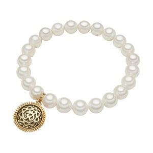 Náramok s bielou perlou⌀8 mm Perldesse Eve, dĺžka 18 cm