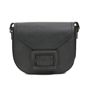 Čierna kožená kabelka Luisa Vannini Mussma