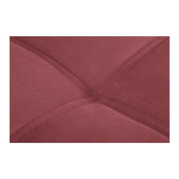 Čierno-ružová pohovka Modernist Crinoline, pravý roh