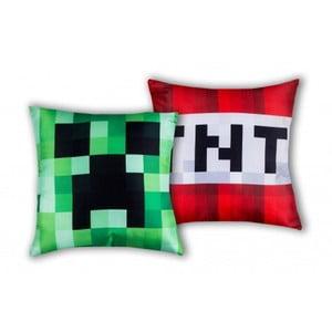 Detský obojstranný vankúš Halantex Minecraft, 40 x 40 cm