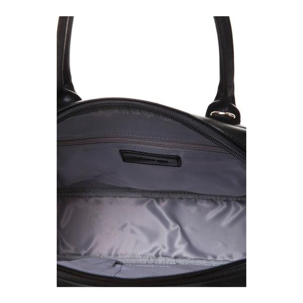 Kožená kabelka do ruky Marta Ponti Handy, čierna