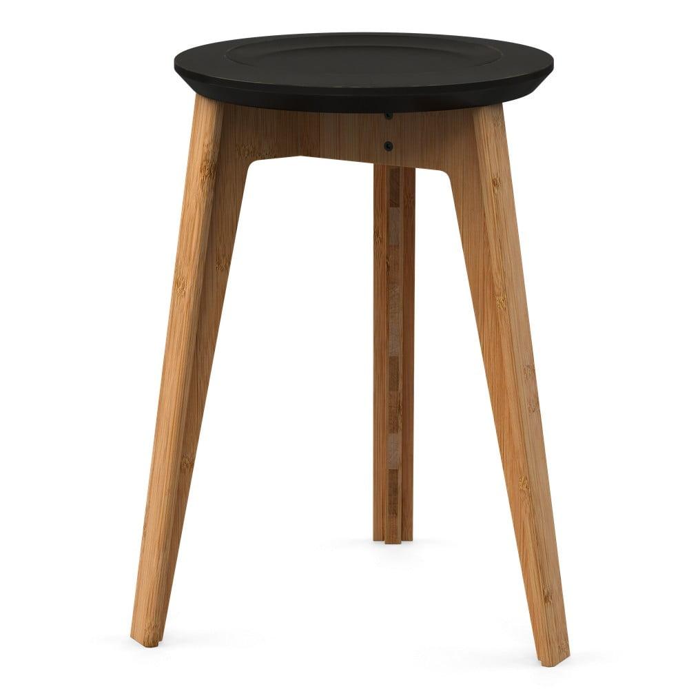 Bambusová stolička s čiernym sedadlom z bukového dreva We Do Wood Button
