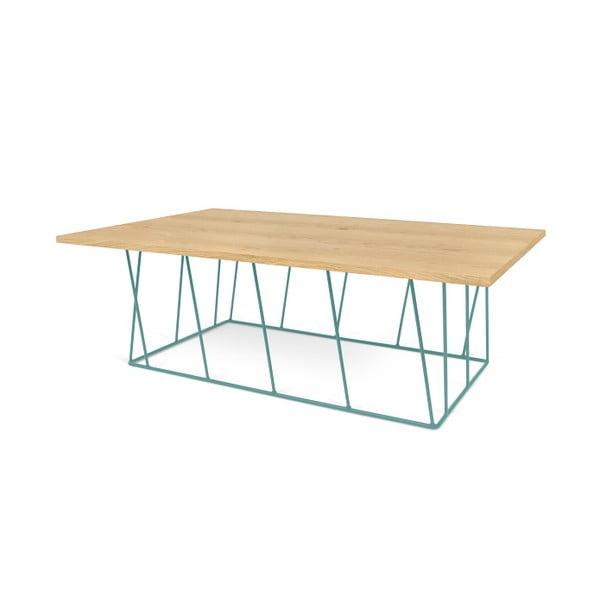 Konferenčný stolík so zelenými nohami TemaHome Helix,120cm