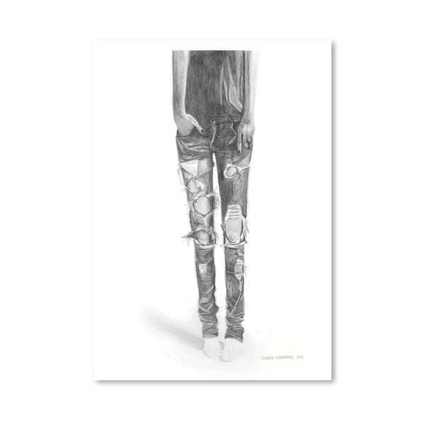 Plagát Ripped Jeans, 30x42 cm