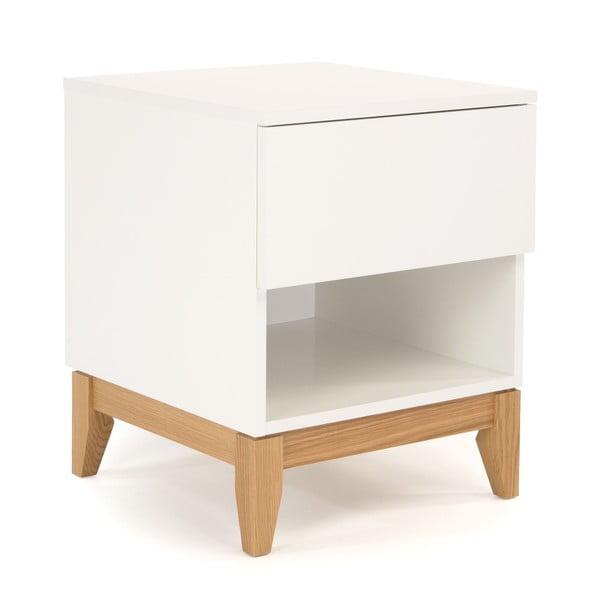 Biely odkladací stolík Woodman Blanco