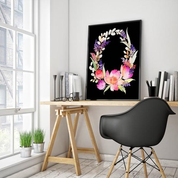 Plagát s kvetinovým vencom, 30 x 40 cm