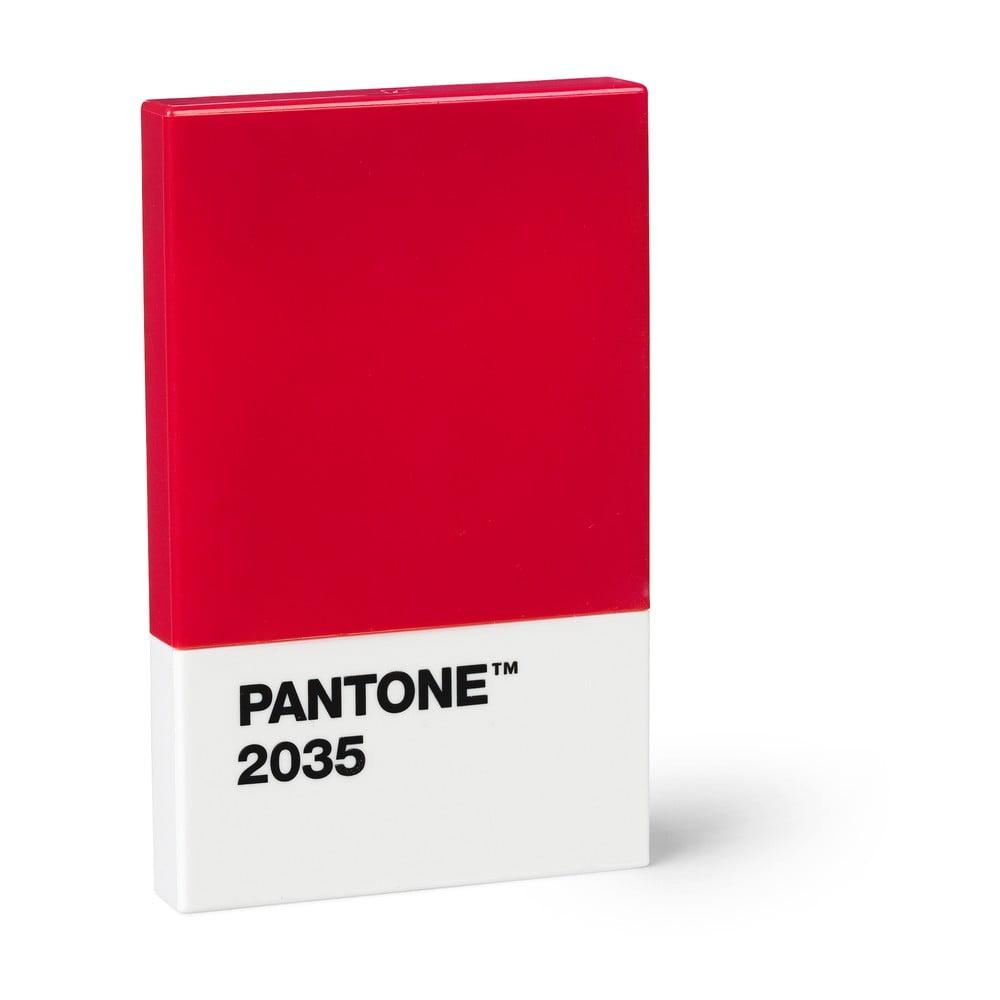 Červené puzdro na vizitky Pantone