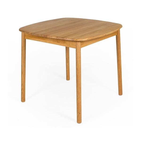 Jedálenský stôl z olejovaného dubového dreva Askala Naos, 85 × 85 cm