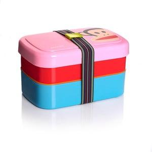 Dvojposchodový desiatový box, ružový