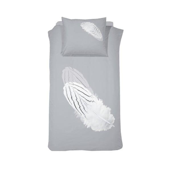 Obliečky Quill 140x200 cm, šedé