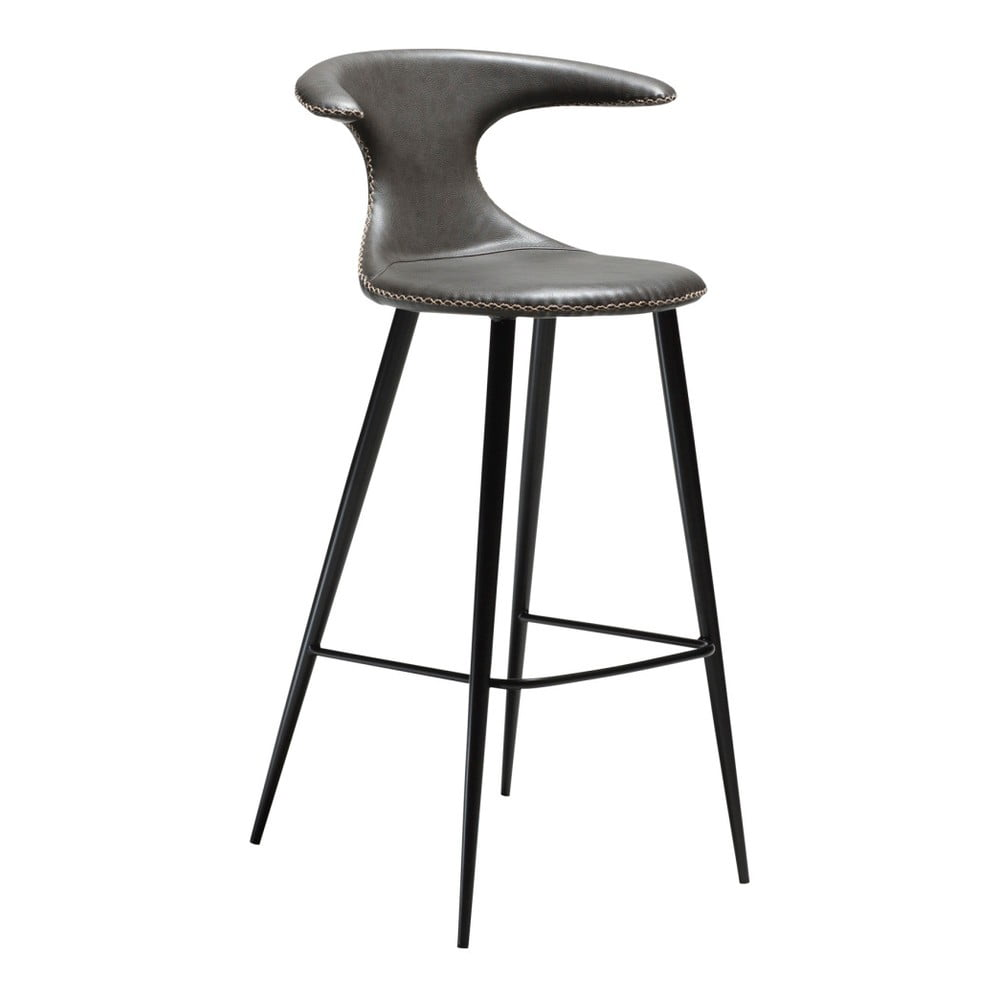 Sivá barová stolička s koženkovým sedadlom DAN-FORM Denmark Flair
