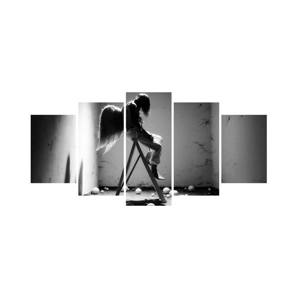 Viacdielny obraz Black&White no. 44, 100x50 cm