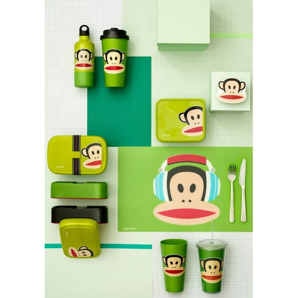 Zelená fľaša s hrnčekom LEGO® Paul Frank