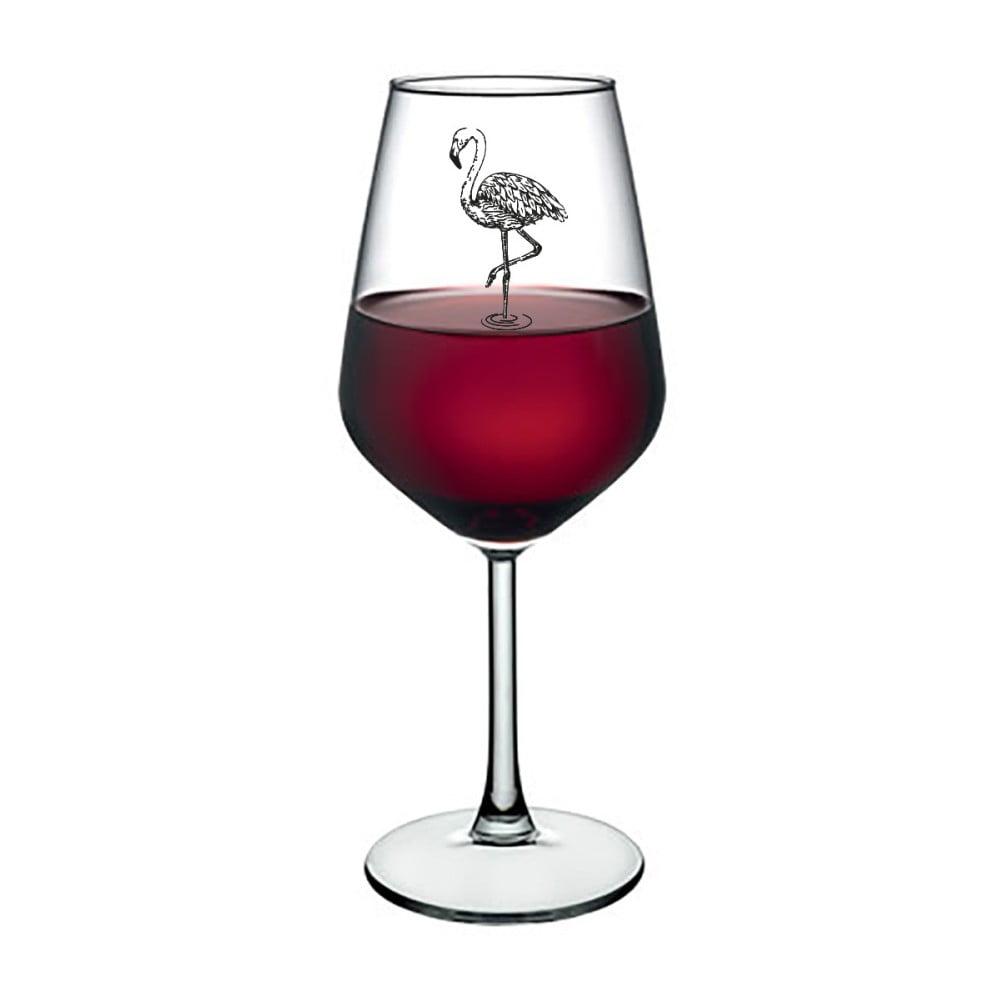 Pohár na víno Vivas Flamingo, 345 ml