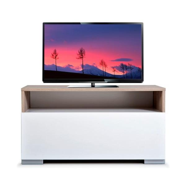 Televízny stolík Decoflex, biely/dub cordoba