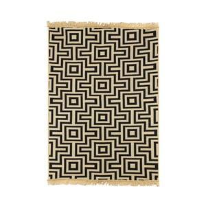 Tmavomodrý koberec Floorist Kare Dark Blue,60x90cm