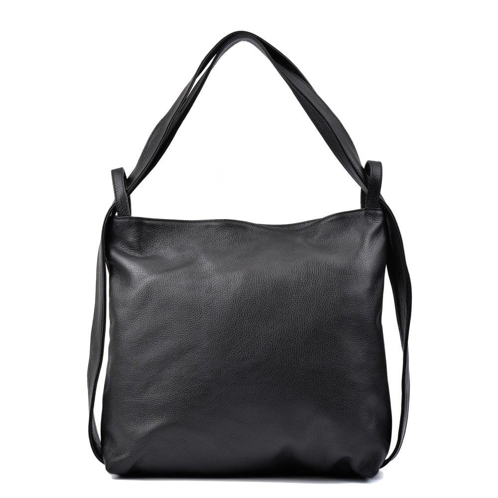 Čierna kožená kabelka Isabella Rhea Jessica