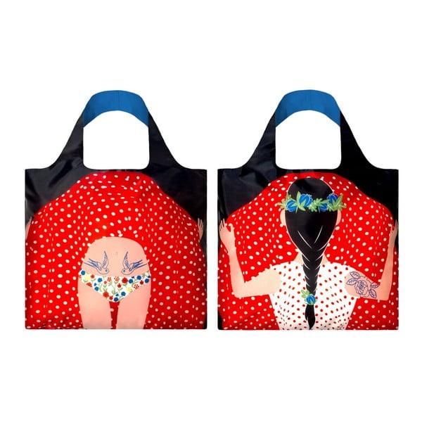 Skladacia nákupná taška Flashing Girl by Cristina Caramida