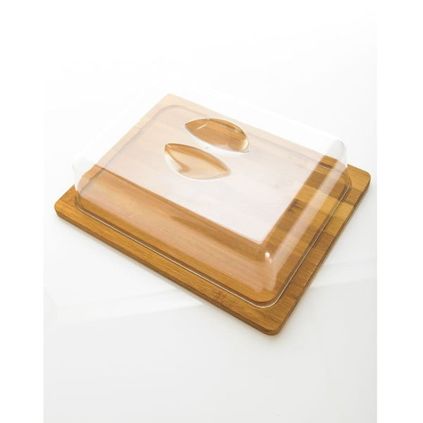 Nádoba na maslo s bambusovou miskou Bambum Almendro