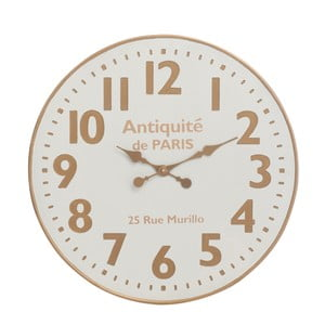 Nástenné hodiny J-Line, biela/béžová