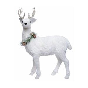 Biela dekorácia Ewax Ciervo, výška 45 cm
