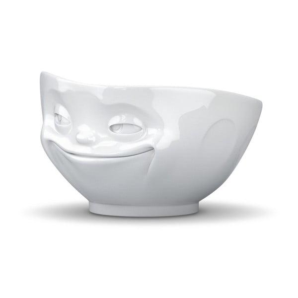 Usmievavá miska, biela z bistra U Kubistu