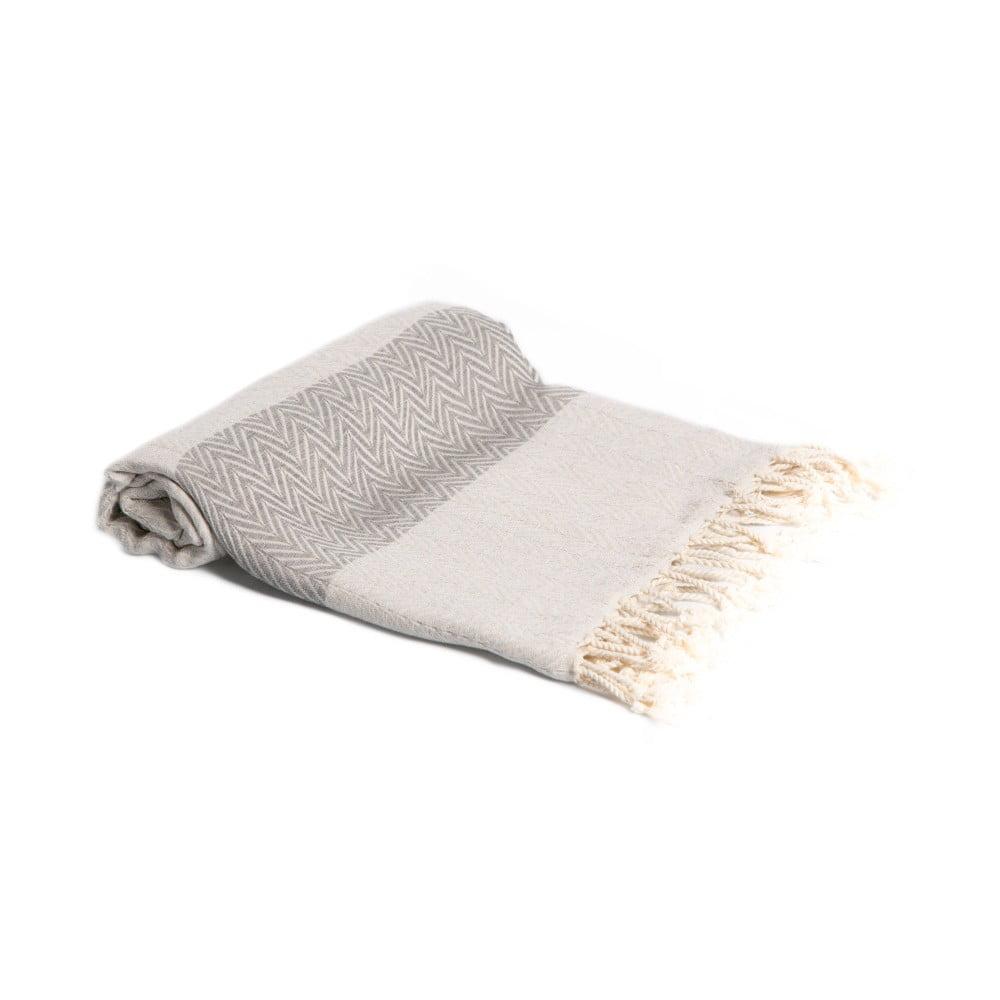 Hammam osuška z ručne tkanej bavlny ZFK Hermod, 180 x 95 cm