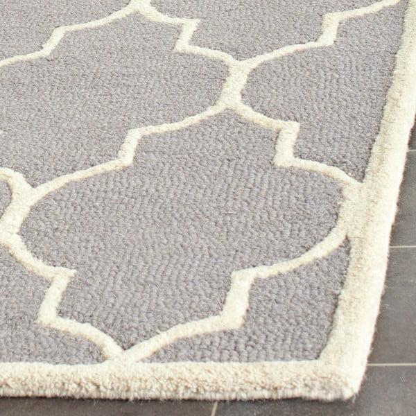 Vlnený koberec Everly 76x243 cm, svetlosivý