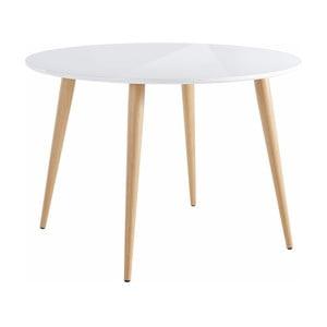 Lesklý biely jedálenský stôl Støraa Canton