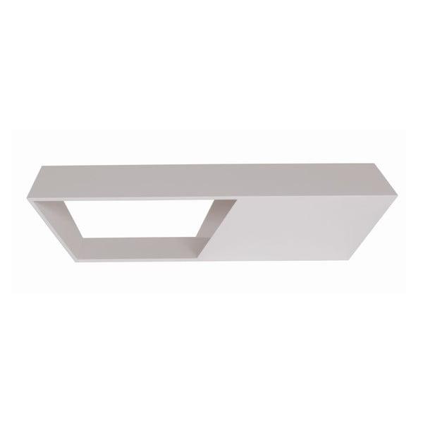Vonkajší konferenčný stolík Gem White, 120x60 cm