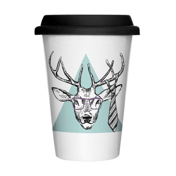 Porcelánový hrnček na cesty We Love Home Hipster Deer, 400 ml