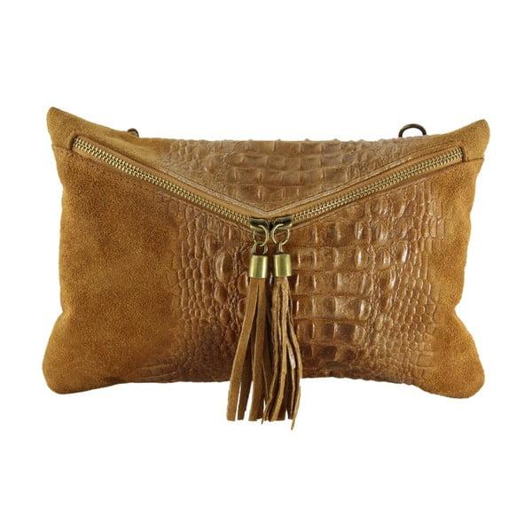 Kožená listová kabelka Wissa, hnědé