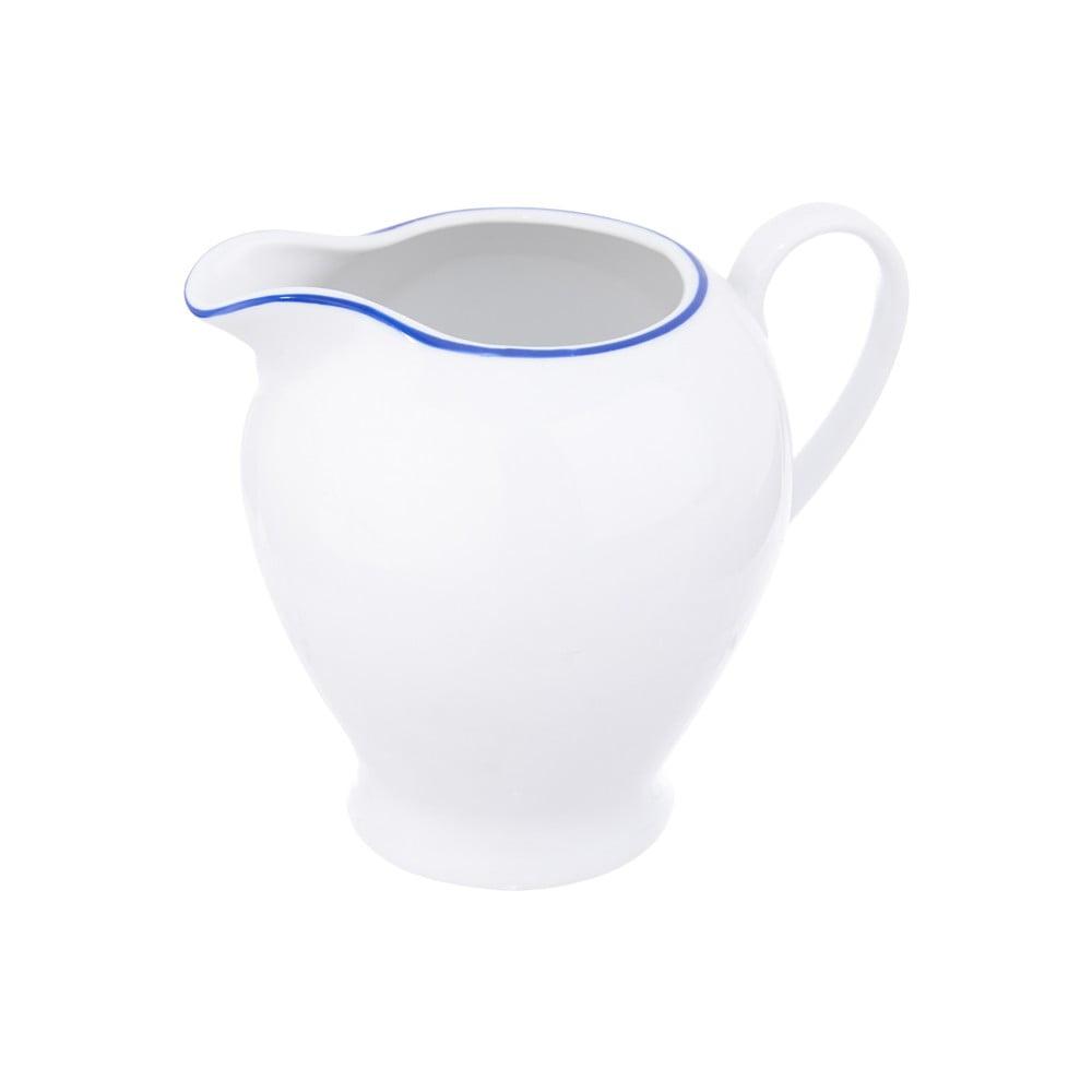 Biela porcelánová nádoba na mlieko Orion Blue Line, 350 ml