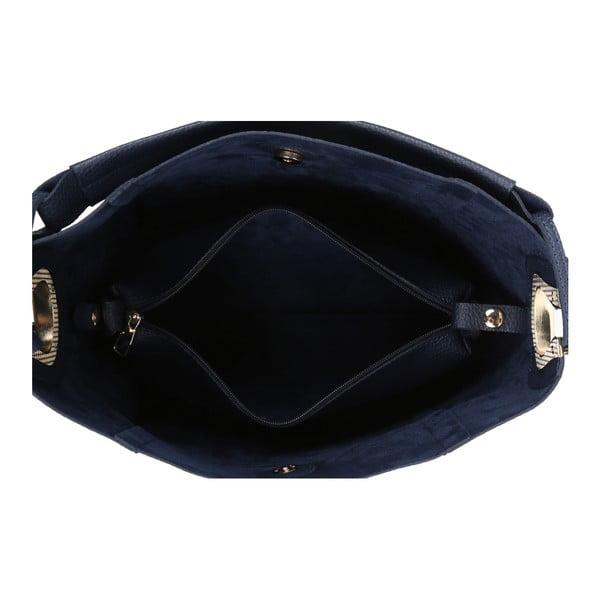 Tmavomodrá kabelka z eko kože Beverly Hills Polo Club Rita