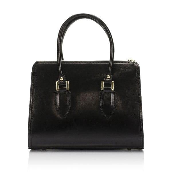 Čierna kožená kabelka Lisa Minardi Calf