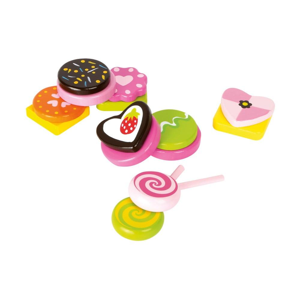 Set detských drevených hračiek na výrobu cukríkov Legler Sweets