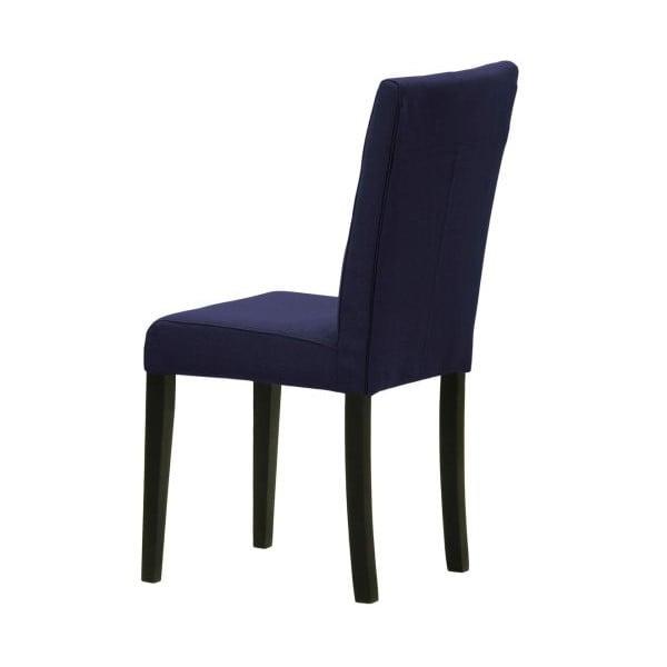 Sada 2 stoličiek Monako Etna Dark Blue, čierne nohy