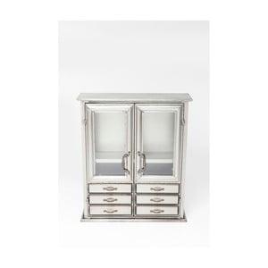 Komoda v striebornej farbe Kare Design Cabinet