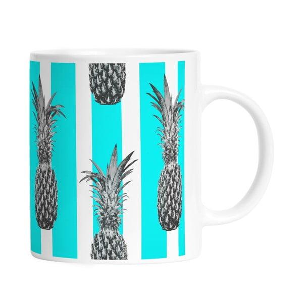 Keramický hrnček Pineapples in Stripes, 330 ml