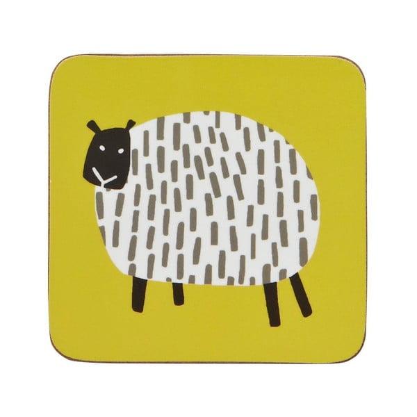 Sada 4 podložiek Dotty Sheep