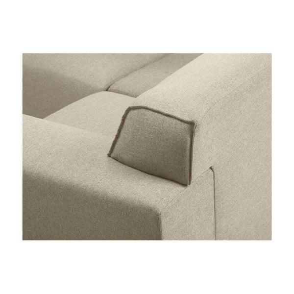 Béžová rohová štvormiestna pohovka Cosmopolitan Design Seville, levý roh