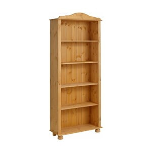 Hnedá knižnica z masívneho borovicového dreva Støraa Ella