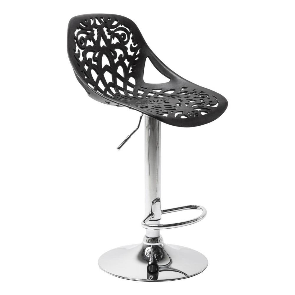 Sada 2 čiernych barových stoličiek Kare Design Ornament
