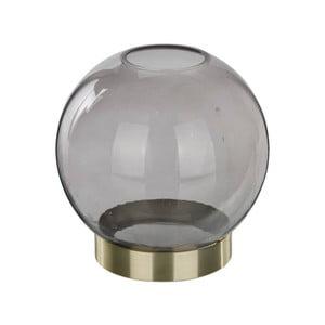 Čierna transparentná váza Native Globe, ⌀12 cm