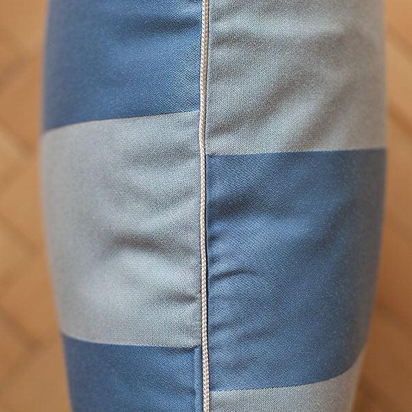 Vankúš s výplňou Light Blue Sripes, 50x50 cm