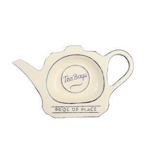 Krémový keramický tanierik na čajové vrecúška T&G Woodware Pride of Place