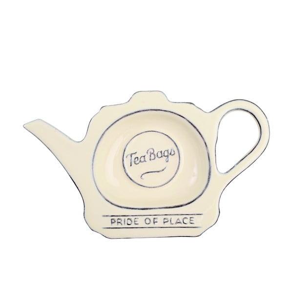 Krémový porcelánový tanierik na čajové vrecúška T&G Woodware Pride of Place
