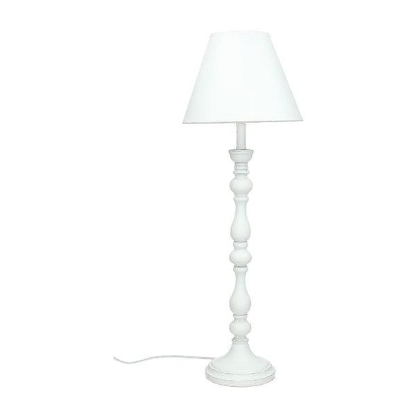 Stolná lampa Wood White, 56,5 cm