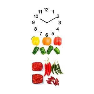 Sklenené hodiny Zelenina, 20x50 cm