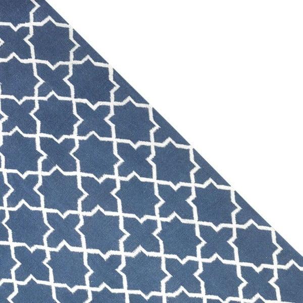 Vlnený koberec Geometry Grey Blue & White, 160x230 cm